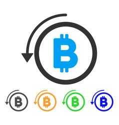 Undo bitcoin payment icon vector