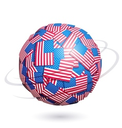 US flags sphere vector image