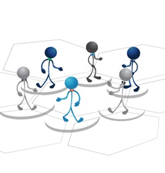 People team diagram design vector