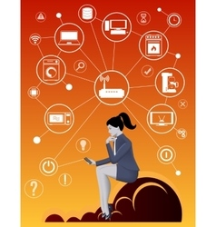 Internet of things business concept vector