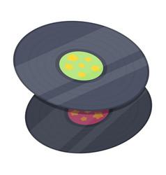 vinyl recordshippy single icon in cartoon style vector image