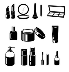 Cosmetic set vector