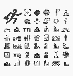 Human resource icons set vector