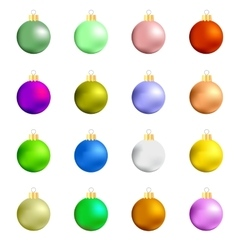 Colorful Glass Balls Collection vector image