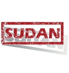 Sudan outlined stamp vector