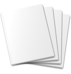 Blank covers mockup magazine template on white vector