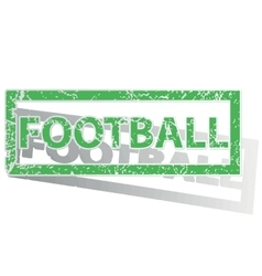 Green outlined football stamp vector
