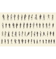 People Sketch  Hand Drawing vector image