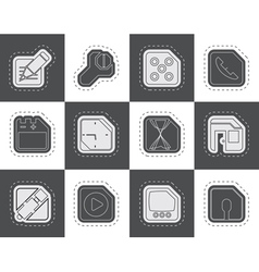 Mobile Phone Computer and Internet Icons vector image