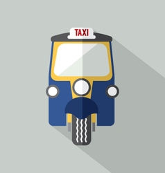 Three wheelers taxi front view vector