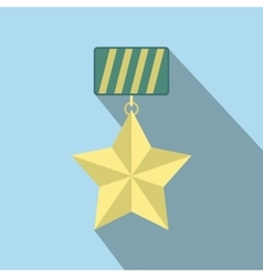 Star medal flat icon vector