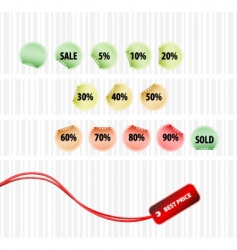 Concept of successful sales vector