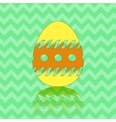 Colored easter egg silhouette vector