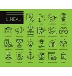 Line icons in a modern style vector