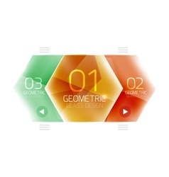Colorful glass hexagon business infographic vector