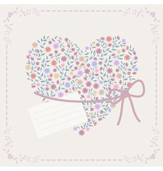 Background with heart and frame vector
