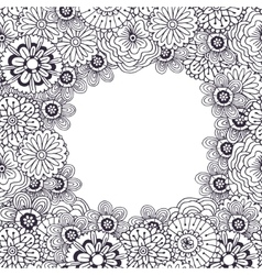 Adult coloring book page frame with vector