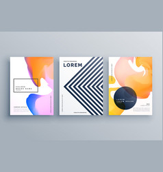 Abstract creative brochure design template set vector