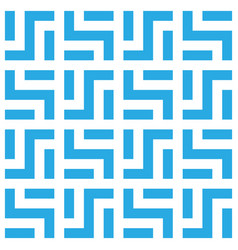 Abstract seamless pattern background maze of blue vector
