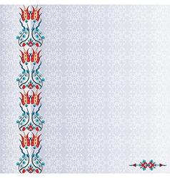 Antique ottoman turkish pattern design ninety four vector