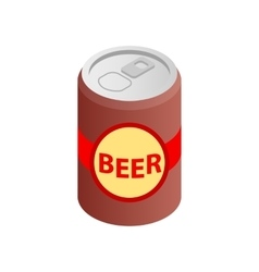 Beer can isometric 3d icon vector image