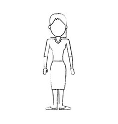blurred silhouette caricature faceless woman with vector image