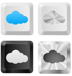 Clouds on the buttons vector image