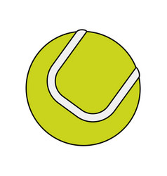 Colorful image cartoon tennis ball on white vector