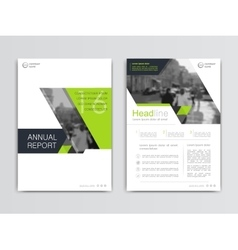 Cover design annual report template vector image vector image