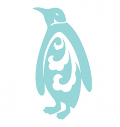 decorative penguin vector image vector image