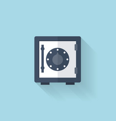 Flat web icon Safe bank deposit vector image