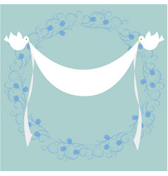 frame with doves and flag vector image vector image