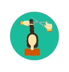 Hair cutting icon vector image