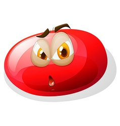 Jelly bean with face vector