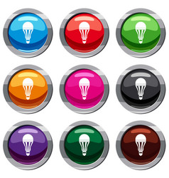 led bulb set 9 collection vector image