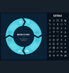 Medicine infographic template elements and icons vector
