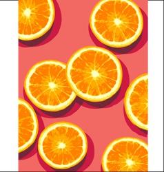 oranges on pink vector image