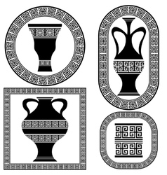 Set of greek frames vector