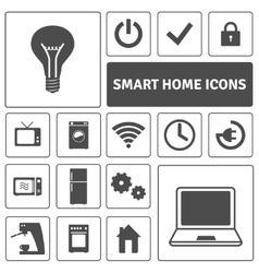 Smart Home Icons Set vector image vector image