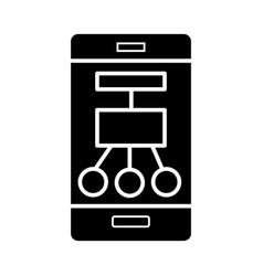 Smartphone scheme structure icon vector