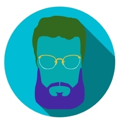 Super hero mask glasses beard hair Flat style vector image vector image