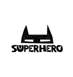Superhero little herohand drawn style typography vector