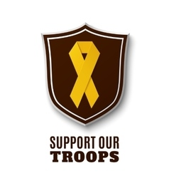 Support our troops vector