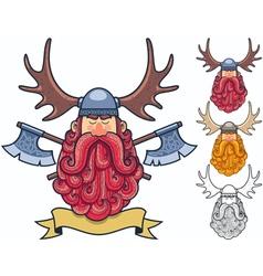 Viking portrait 2 vector