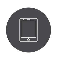 Tablet icon outline vector