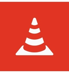 The traffic cone icon Safety and attention vector image