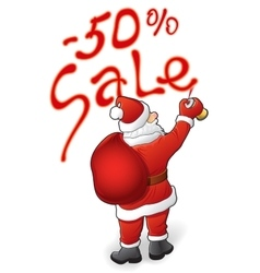 Santa claus sale - 50 vector