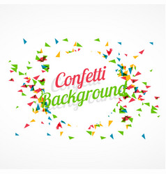 abstract confetti background vector image