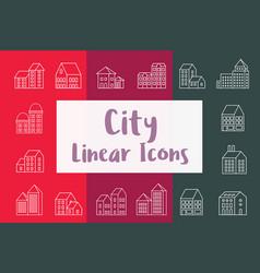 Set city urban vector