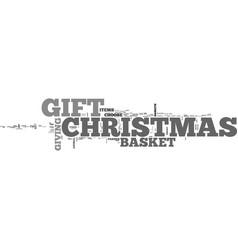 A special christmas gift text word cloud concept vector